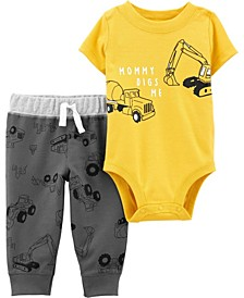 Baby Boy  2-Piece Construction Bodysuit Pant Set