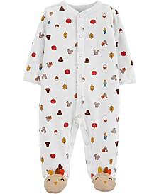 Baby Boy or Girl  Thanksgiving Snap-Up Cotton Sleep & Play