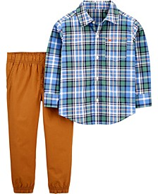 Baby Boy  2-Piece Plaid Button-Front Shirt & Pant Set