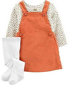 Baby Girl  3-Piece Tee & Skirtall Set