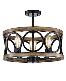 "Shacer 17.72"" 3-Light Indoor Chandelier with Light Kit"