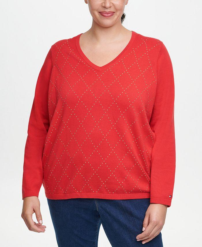 Tommy Hilfiger - Plus Size Ivy Cotton Argyle Sweater