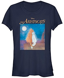 Women's The Aristocats Night Sky Stars Short Sleeve T-shirt