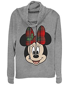 Women's Disney Mickey Classic Big Minnie Holiday Fleece Cowl Neck Sweatshirt