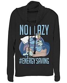 Women's Disney Lilo Stitch Lazy Energy Fleece Cowl Neck Sweatshirt
