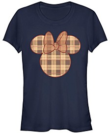 Women's Disney Mickey Classic Fall Plaid Minnie Short Sleeve T-shirt