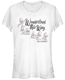 Women's Alice in Wonderland Baby Oysters Short Sleeve T-shirt
