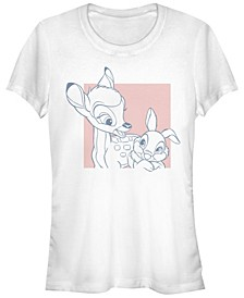 Women's Bambi Thumper Square Short Sleeve T-shirt