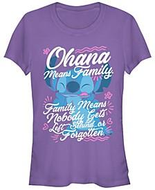 Women's Disney Lilo Stitch Ohana Family Short Sleeve T-shirt