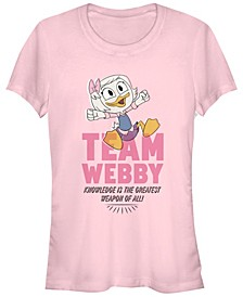 Women's Duck Tales Team Webby Pink Short Sleeve T-shirt