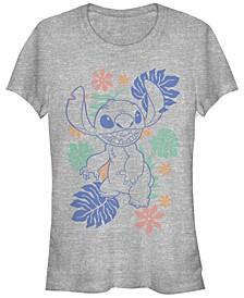 Women's Disney Lilo Stitch Retro Tropical Tonal Stitch Short Sleeve T-shirt