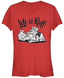 Women's 101 Dalmatians Life is Ruff Short Sleeve T-shirt