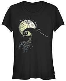 Women's Nightmare Before Christmas Spiral Hill Jack Short Sleeve T-shirt