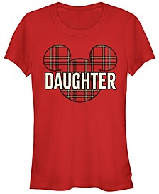 Women's Disney Mickey Classic Daughter Holiday Short Sleeve T-shirt