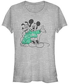 Women's Disney Mickey Classic Sweater Pals Short Sleeve T-shirt