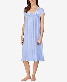 Dot-Print Waltz Nightgown