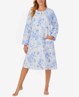 Eileen West MID-WEIGHT QUILTED ZIP FRONT ROBE