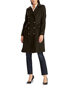 Double-Breasted Wool-Blend Walker Coat