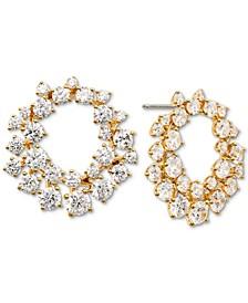 Cubic Zirconia Wreath Drop Earrings, Created for Macy's