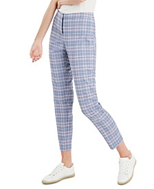 Glen Plaid Slim Trousers, Created for Macy's