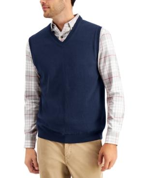 Men's Solid V-Neck Sweater Vest
