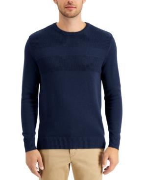 Men's Textured Cotton Sweater