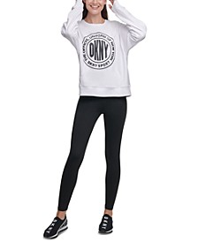 Sport Acid-Washed Logo Jersey Sweatshirt