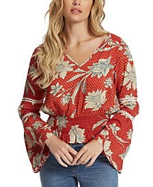 Scarletti Smocked Printed Top