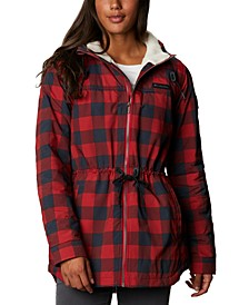 Women's Chatfield Hill Plaid Fleece-Lined Utility Jacket