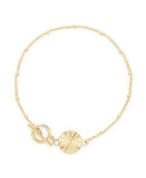 14K Gold Plated Celeste Toggle Bracelet