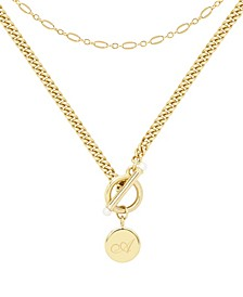 14K Gold Plated Stella Initial Layering Necklace Set