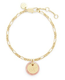 14K Gold Plated Chelsea Initial Charm Bracelet