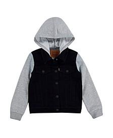 Little Boys Hooded Trucker Jacket