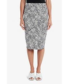Women's Iced Leopard Midi Tube Skirt