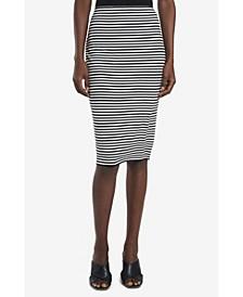 Women's Striped Pull On Tube Skirt