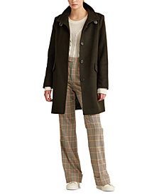Lauren Ralph Lauren Wool-Blend Coat, Created For Macy's
