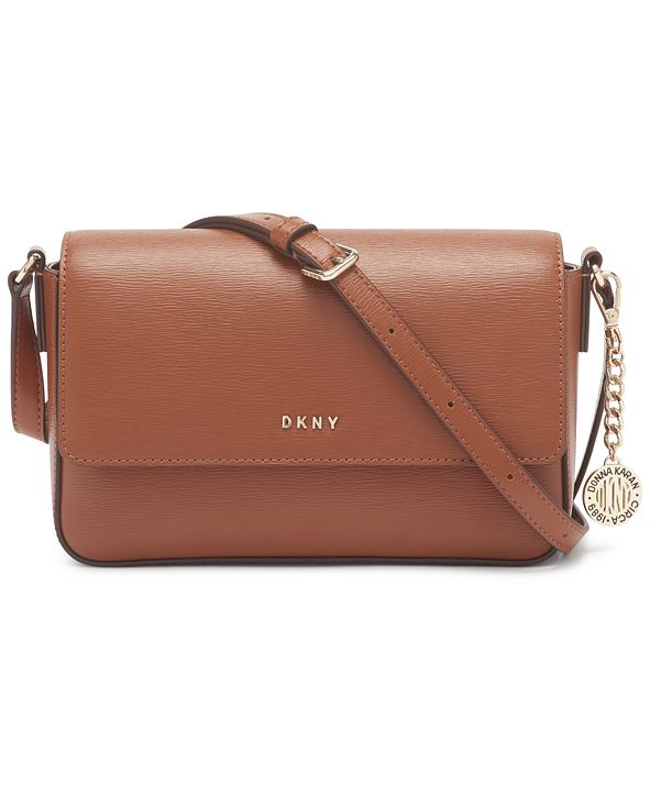 DKNY Bryant Medium Leather Flap Crossbody