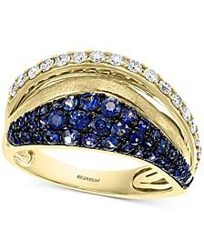 EFFY® Sapphire (7/8 ct. t.w.) & Diamond (1/3 ct. t.w.) Statement Ring in 14k Gold