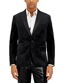 INC Men's Logan Slim-Fit Velvet Blazer, Created for Macy's
