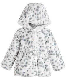 Baby Girls Snow Leopard Faux Fur Coat, Created for Macy's