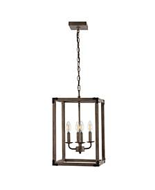 Magnolia 4-Light Adjustable Rustic Farmhouse LED Pendant