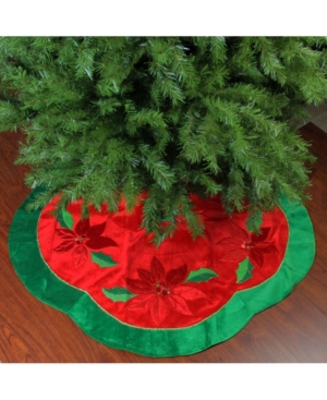 Northlight Sequined Poinsettia Christmas Tree Skirt