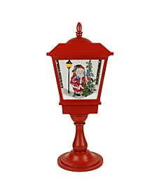 Lighted Musical Santa Claus Snowing Table Top Christmas Street Lamp