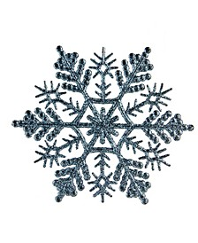24 Count Baby Glitter Finish Snowflake Christmas Ornaments