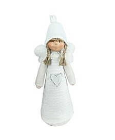 Snowy Woodlands Girl Angel Christmas Table top Figurine