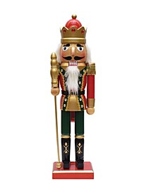 Christmas Nutcracker King with Sceptre