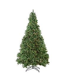 Pre-Lit Medium Buffalo Fir Artificial Christmas Tree-Clear Lights