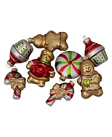 Pack Of Gingerbread Men with Sweet Treats Christmas Ornaments