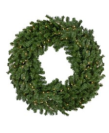 Deluxe Windsor Pine Artificial Christmas Wreath-Clear Lights