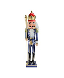 Christmas Nutcracker King with Scepter